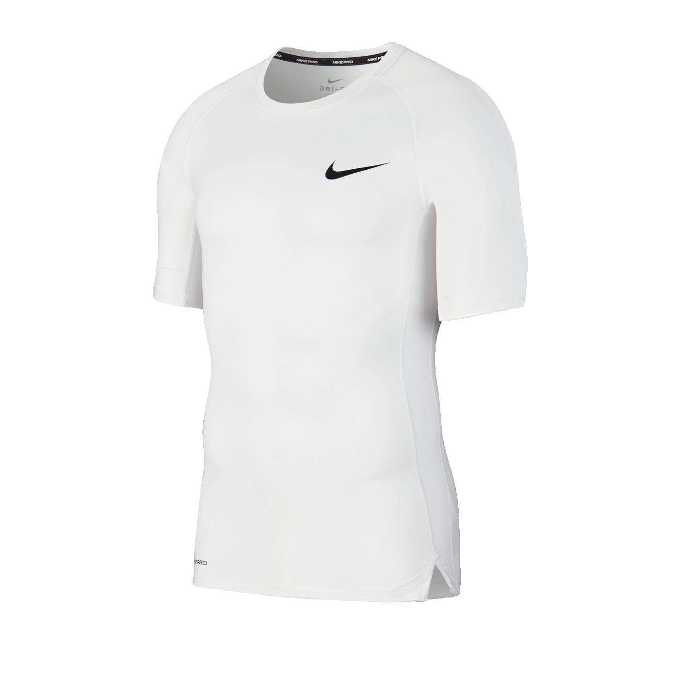 Nike Pro Trainingsshirt kurzarm Weiss F100 - weiss
