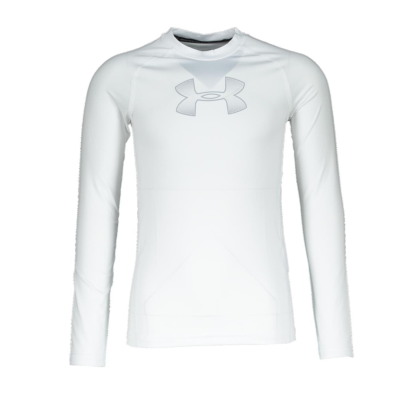 Under Armour HeatGear LS Shirt Kids Weiss F101 - weiss