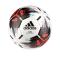 adidas Team Spielball Weiss Schwarz Rot - weiss