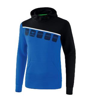 erima-5-c-kapuzensweat-kids-blau-schwarz-fussball-teamsport-textil-sweatshirts-1071901.png