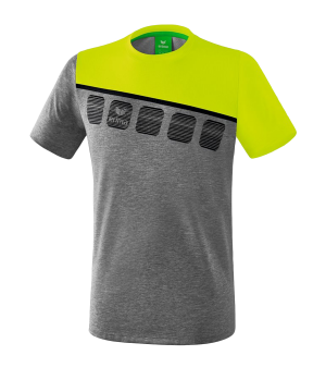 erima-5-c-t-shirt-kids-grau-gruen-fussball-teamsport-textil-t-shirts-1081908.png