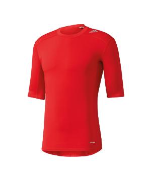 adidas-tech-fit-base-tee-kurzarmshirt-unterwaesche-funktionswaesche-men-herren-rot-aj4968.png