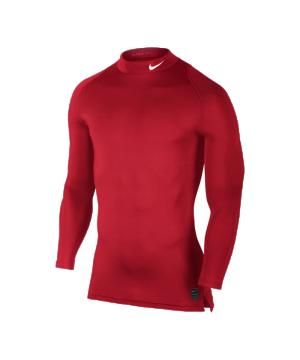 nike-pro-compression-ls-mock-rot-f657-underwear-funktionswaesche-stehkragen-langarm-unterziehen-men-herren-703090.png