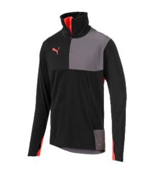 puma-ftblnxt-1-4-zip-top-schwarz-rot-f01-sport-bequem-sportsweat-active-656450.png