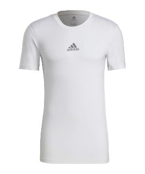 adidas-techfit-shirt-kurzarm-weiss-gu4907-underwear_front.png