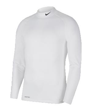 nike-pro-warm-top-mock-tall-weiss-schwarz-f100-cu4970-underwear_front.png